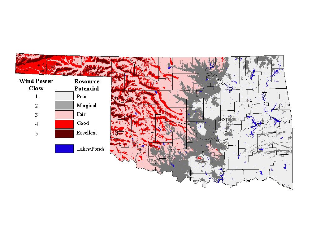 Wind Farms In Oklahoma Map.Advanced Wind Resource Characterization And Stationarity Analysis