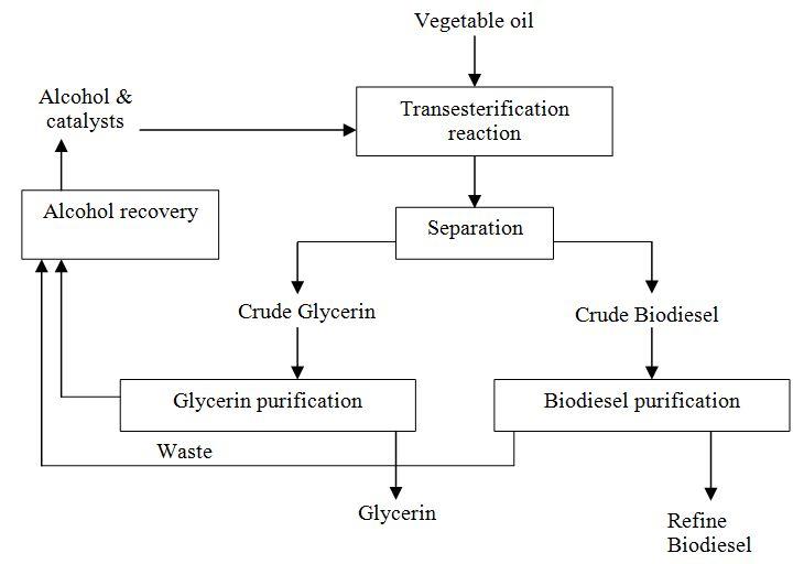 Diagram  Process Flow Diagram Biodiesel Production
