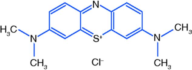 Figure 1 Molecular Structure Scheme Of The Methylene Blue