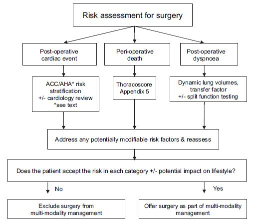 Preoperative Evaluation of Patients for Thoracic Surgery