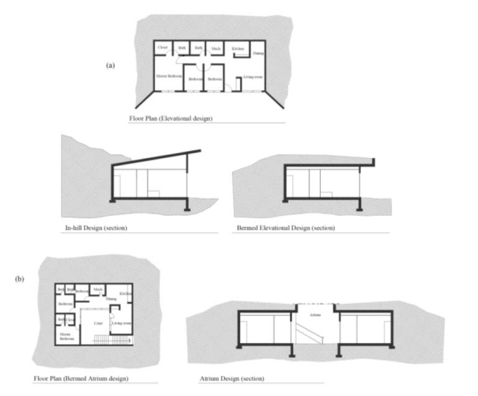 earth sheltered modern berm house plans
