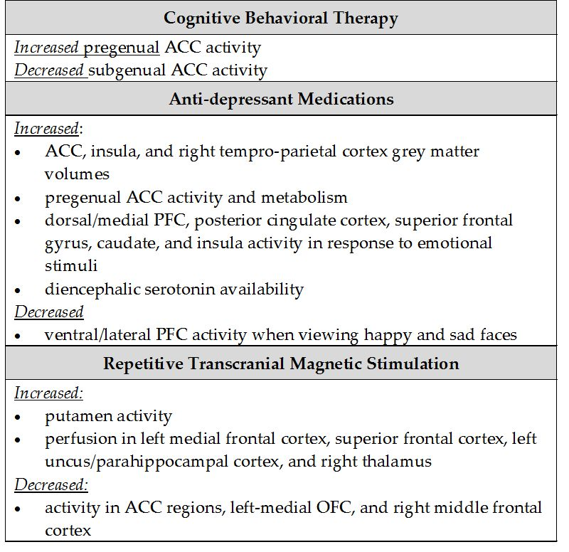 Brain Imaging and the Prediction of Treatment Outcomes in