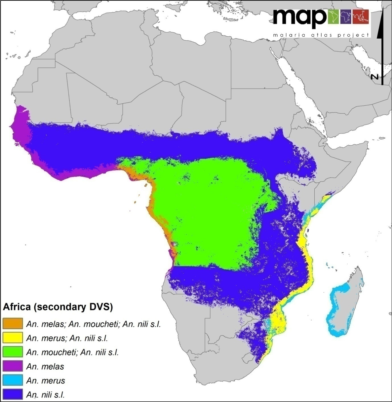 Global Distribution of the Dominant Vector Species of Malaria ...