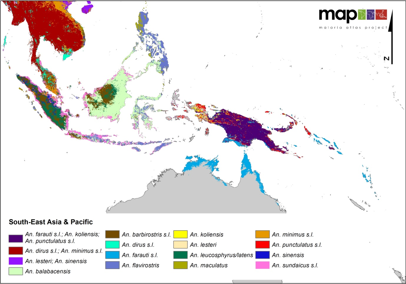 Global Distribution of the Dominant Vector Species of