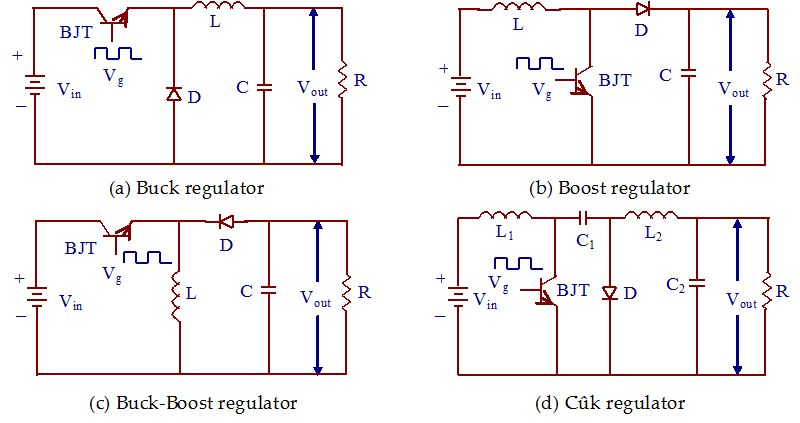 Circuit Diagram Of Dcdc Regulator A Buck Regulator B Boost Wiring