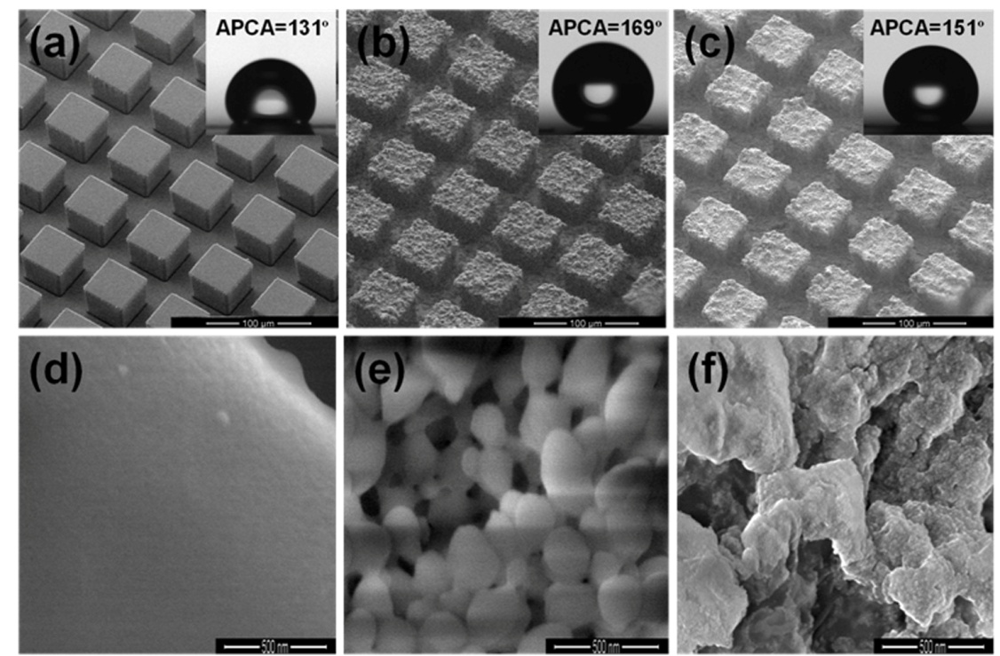 Combination of Lithography and Coating Methods for Surface