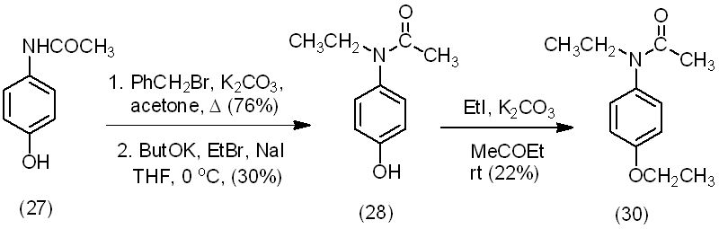 synthesis of phenacetin from acetaminophen