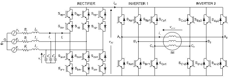 Open-End Winding Induction Motor Drive Based on Indirect