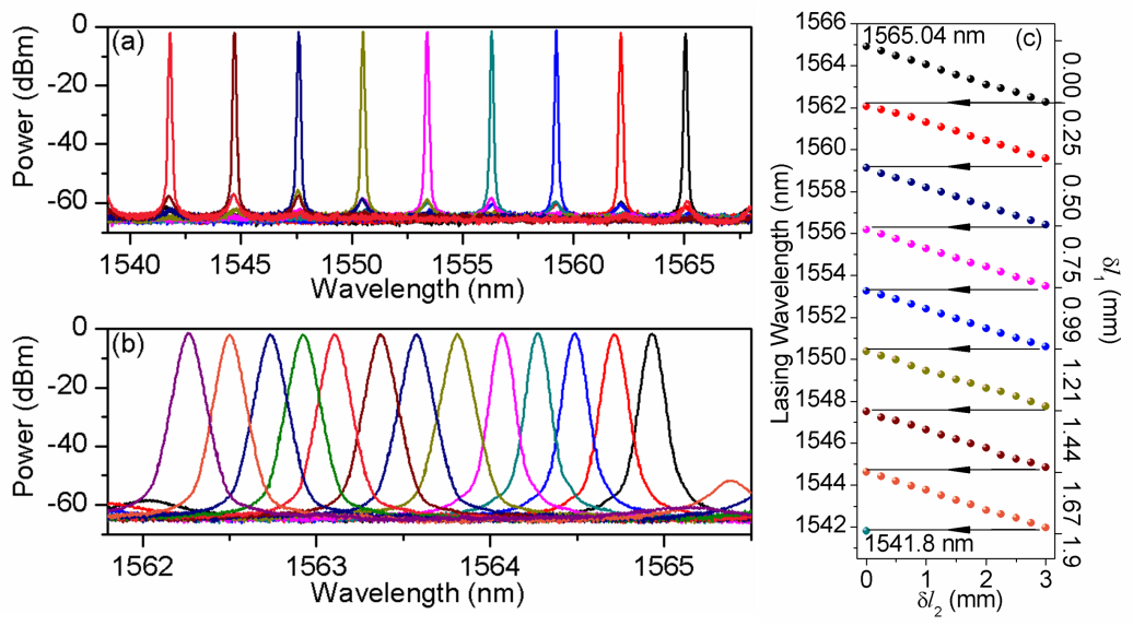 Tunable Single-, Dual- and Multi-wavelength Fibre Lasers by
