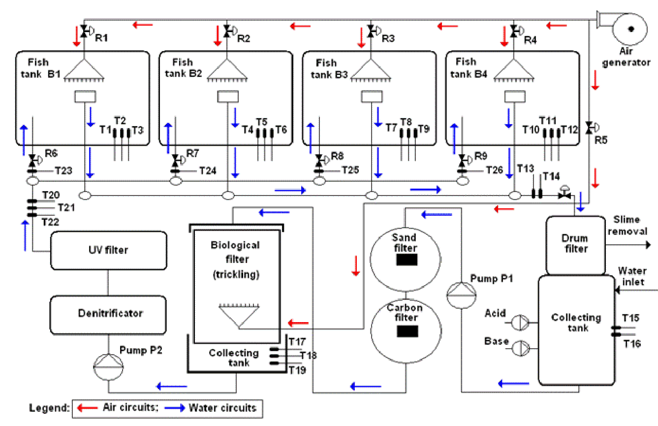Water Quality Modeling And Control In Recirculating