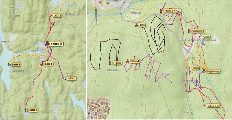 Position Tracking and GIS in Search and Rescue Operations