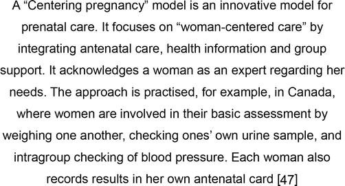 Psychosocial Antenatal Care: A Midwifery Context | IntechOpen