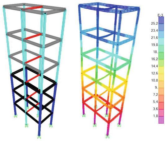 Design Optimization of 3D Steel Frameworks Under Constraints