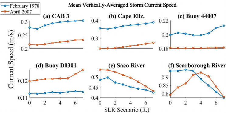 Linear and Nonlinear Responses to Northeasters Coupled with Sea